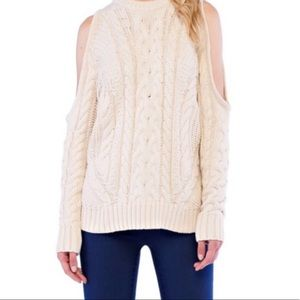 Endless Rose cold shoulder chunky sweater S